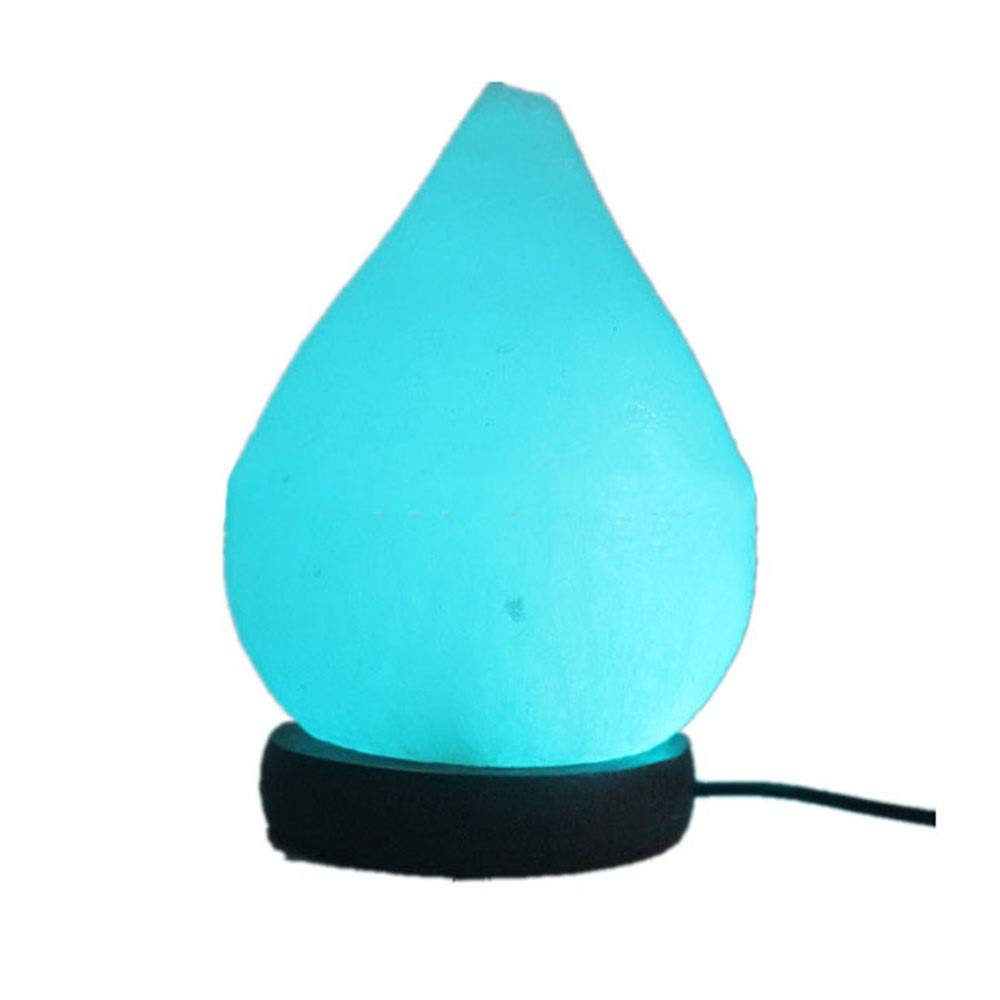 Tipo de Gota de Agua Grabado USB Cristal Lámpara de Sal LED ...