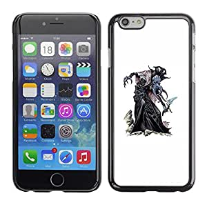A-type Arte & diseño plástico duro Fundas Cover Cubre Hard Case Cover para Apple (5.5 inches!!!) iPhone 6+ Plus / 6S+ Plus (Monster Kraken White Painting Game)