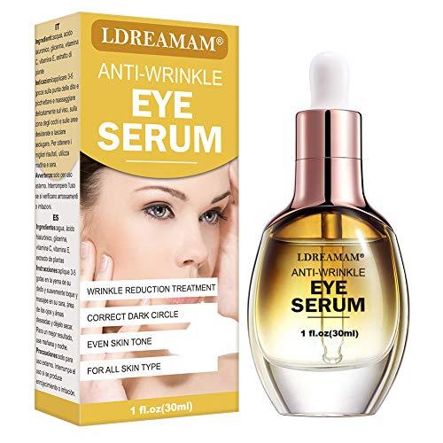 51eqMMLxFLL - Eye Serum,Under Eye Cream,Anti Wrinkle Eye Serum,Anti Ageing Eye Serum,Hydrating Eye Serum,For Dark Circles, Puffiness - Reduces Wrinkles, Bags, Saggy Skin & Puffy Eyes Great Eye Treatment
