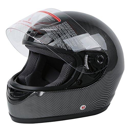 XFMT DOT Adult Carbon Fiber Flip Up Full Face Motorcycle Helmet - Vented Full Motorcycle Face Helmet