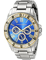 Vince Camuto Womens VC/5159BLLG Multi-Function Blue Dial Light Grey Bracelet Watch