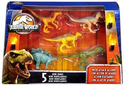 Jurassic World Legacy Collection Mini Dino 5 Pack Figures