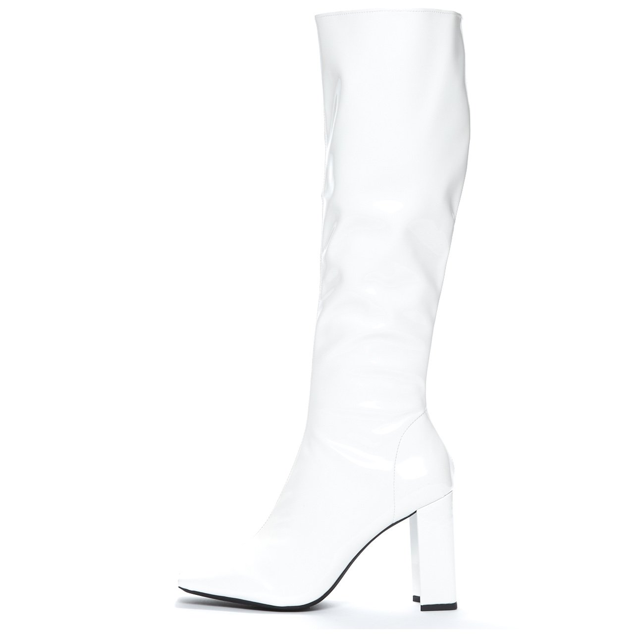 Jeffrey Campbell 'Nemesis MD', white knee hi boot, 6.5