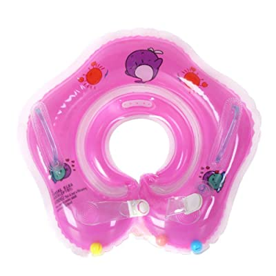 Julymoda Baby Swimming Neck Ring Tube Safety Infant Float Circle for Bathing Inflatable Water Accessories Purple: Home & Kitchen