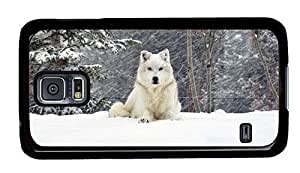 Hipster Samsung Galaxy S5 Case Cheap price cases white dog PC Black for Samsung S5 by supermalls