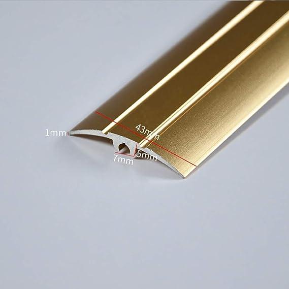 Color : Rose Gold GWXFHT Building Products Carpet Blanking Strip Flat Strip Metal Edging Strip Aluminum Alloy Door Edge Strip Metal Edge Strip U-Shaped Closing Strip