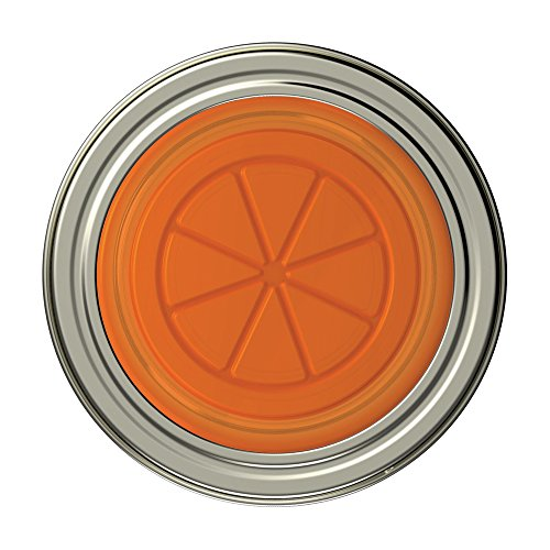 Jarware 82631 Orange Jelly/Jam Lids for Regular Mouth Mason Jars, Set of 4