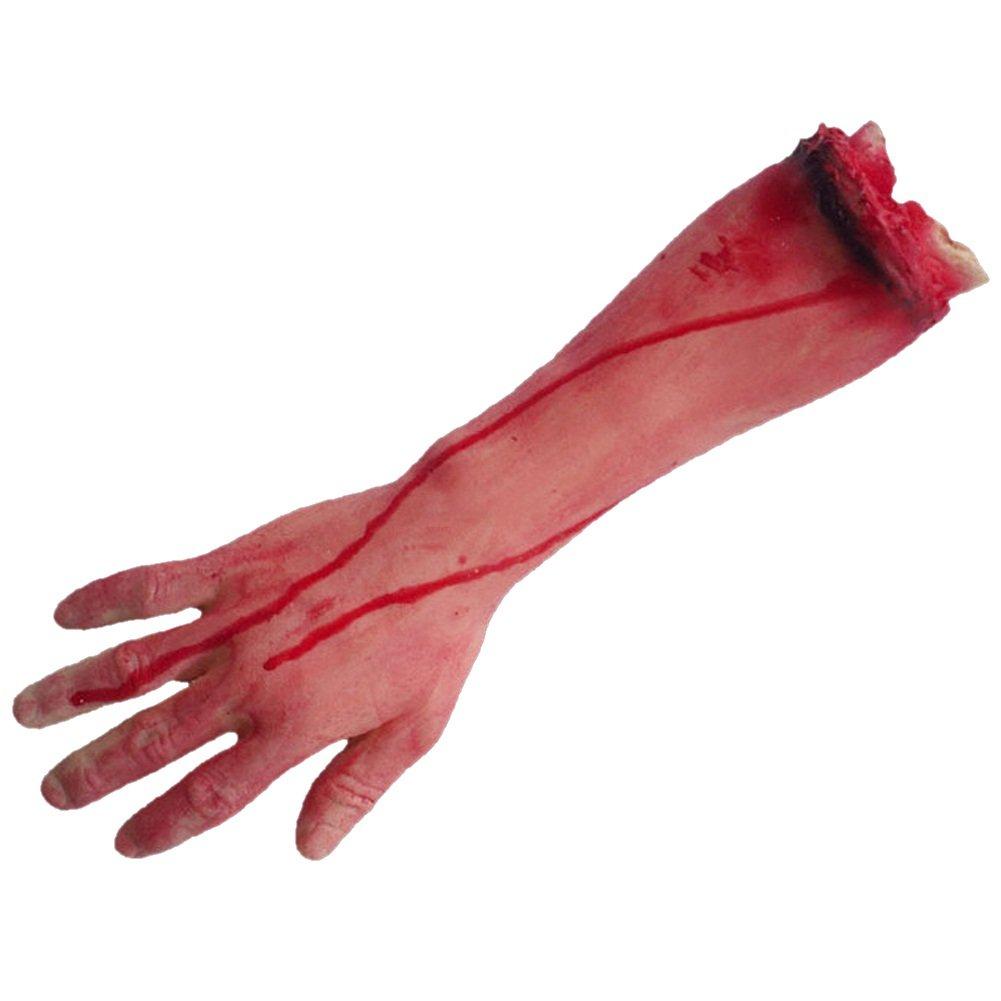 Amazon.com: LETSQK Fake Severed Hands Feet Arm Legs Bloody Broken ...