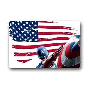 """HomeGoodsPIC Cool Captain America Shield Flag Super Hero Doormats 23.6""""x 15.7"""""""