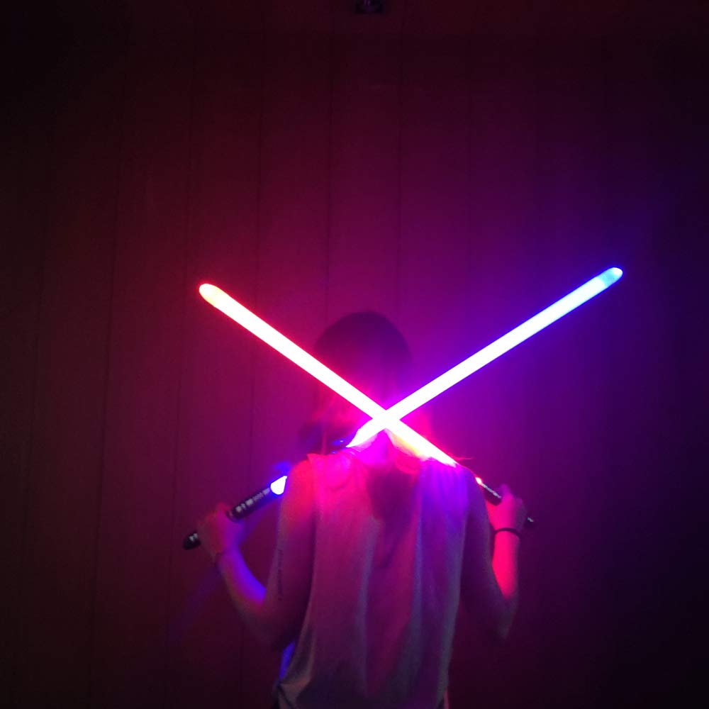 YDD GENIUS Star Wars Lightsaber Metal Aluminum Hilt, Ghost Premium Force FX RGB Led 16 Colors Changing Black Series Light Saber for Adults and Kids, Support Real Heavy Dueling by YDD GENIUS (Image #8)