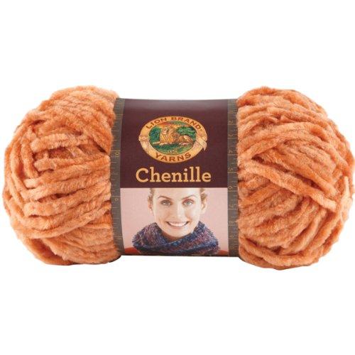 Lion Brand Yarn 531-134 Chenille Yarn, Terracotta