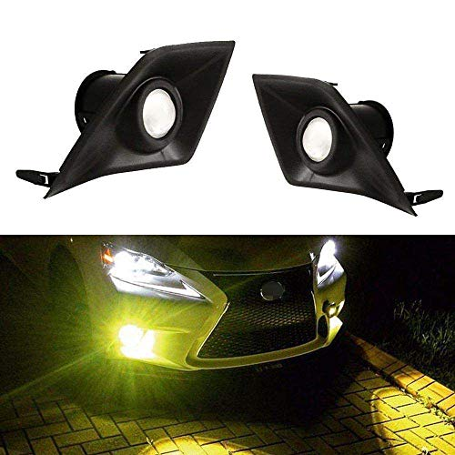 (iJDMTOY Gold Yellow Projector Lens LED Fog Lights For 2014-2016 Lexus IS F-Sport (IS200t IS250 IS300 IS350), Powered by 2500K 15W High Power LED Emitters )