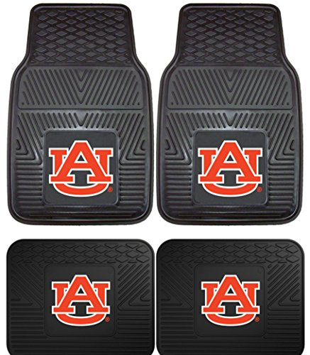Mats Car Pacific (Officially Licensed NCAA Set of Universal Fit Front and Rear Rubber Automotive Floor Mats - Auburn Tigers)