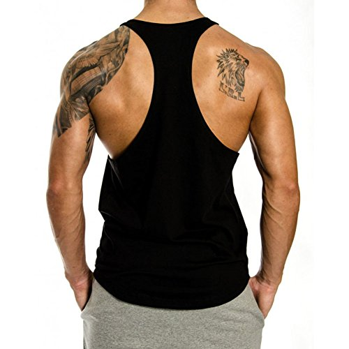 InleaderStyle Men's Gym Cotton NoPainNoGain Stringer Vest