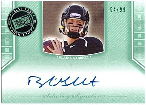 - BLAINE GABBERT 2011 Press Pass Legends Rookie Emerald Card 54/99 Auto On Card
