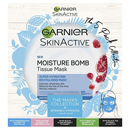 Garnier Skinactive Tissue Masks The 5 Pack Collection Gift Set for Her
