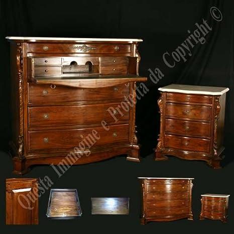 Trittico Camera Da Letto.Antiche Riproduzioni Trittico Con Ribalta E Piano Marmo Amazon It