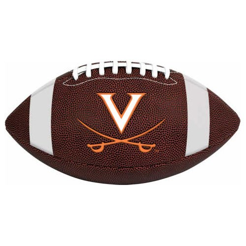NCAA Game Time Full Size Football , Virginia Cavaliers, Brown, Full (Virginia Cavaliers Collectibles)