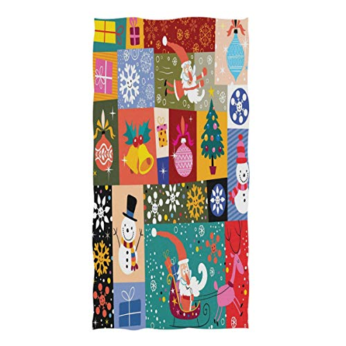 ZZKKO Christmas Tree Funny Santa Snowman Towel Washcloth Baby Toddler Kids Boys Girls Women Man for Home Kitchen Bathroom Spa Gym Swim Hotel Use (Washcloth Holiday)