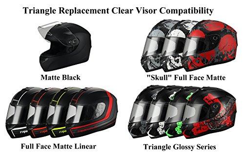 Triangle Visor Face for Face Street Helmet