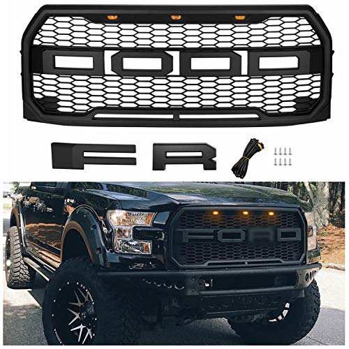 Seven Sparta Front Grill for F150 2015 2016 2017, Raptor Style Grill for Ford (15-17 Matte Black)