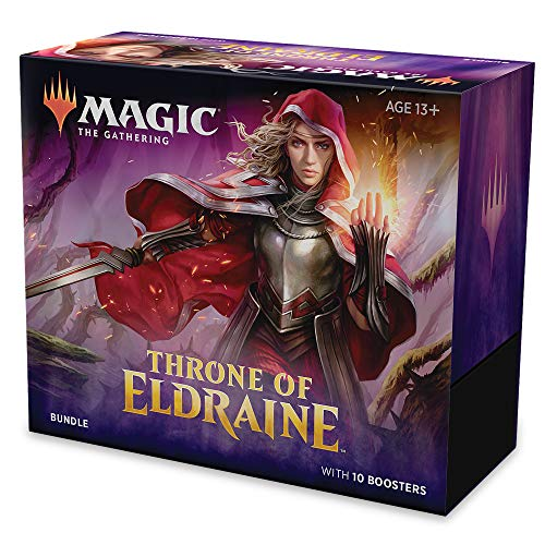 Magic: The Gathering Throne of Eldraine Bundle | 10 Booster Pack (150 Cards) | Accessories