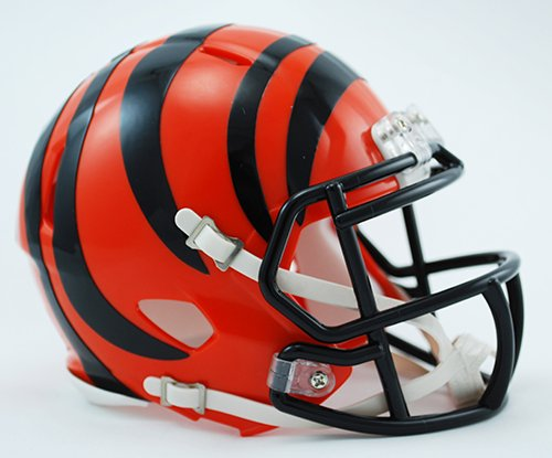 bengals mini football helmet - 3