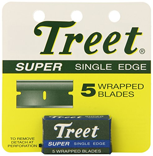 Treet Super Single Edge 5 Wrapped Blades Pack of 24 Total
