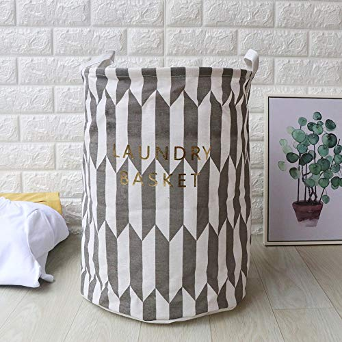 Sodoop Laundry Hamper, Collapsible Waterproof Sheets Laundry Baske,Foldable Sheets Clothes Storage Bag, Folding Washing Bin, Gray from Sodoop
