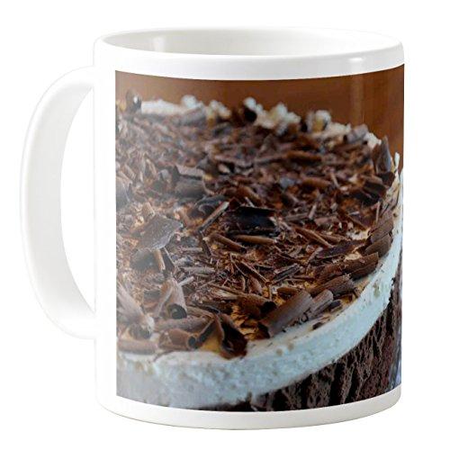 AquaSakura - Triple Chocolate Mousse Cake - 11oz Ceramic Coffee Mug Tea Cup (Triple Chocolate Mousse)