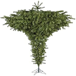 Vickerman 75' Upside Down Artificial Christmas Tree with 650 Warm White LED Lights