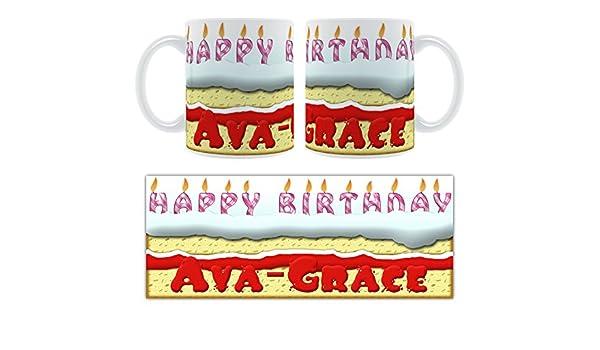 Feliz cumpleaños AVA-Grace - tarta de cumpleaños ...