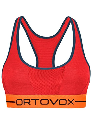 Ortovox 185 Rock N Wool Sport Top Women - hot coral