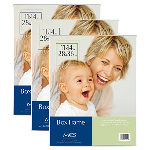 MCS 11x14 Inch Box Frame, 3pk, Clear (Acrylic Box Frame)