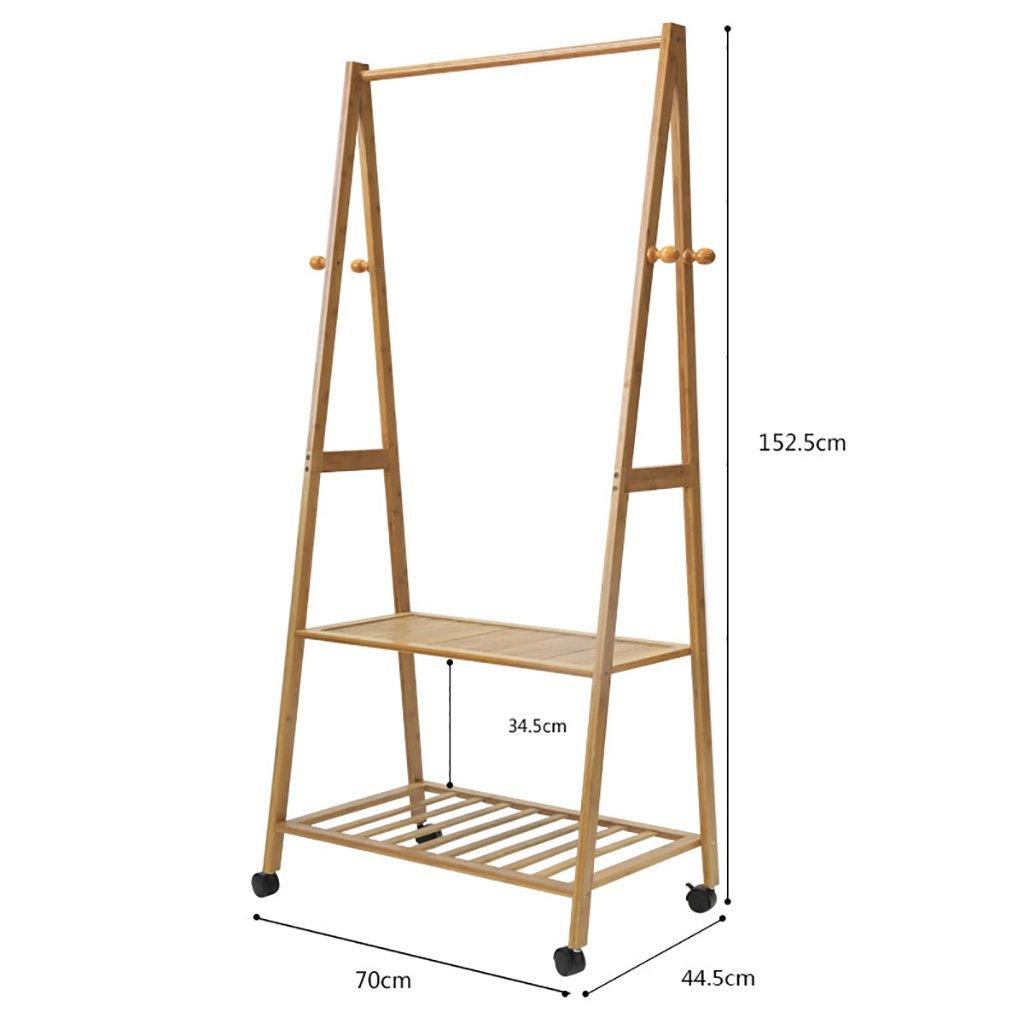 C Coat Stand,Housewares Standing Coat Hat Rack Bamboo Wooden Creative Storage Shelves Hanger,70  44.5  152.5cm