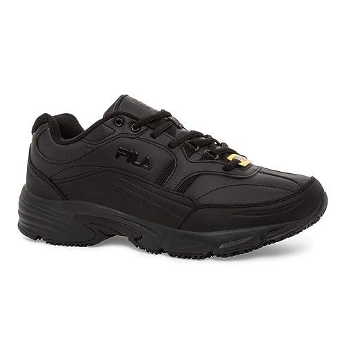 92affd57f396d Amazon.com  Fila Men s Memory Workshift Slip Resistant Composite Toe  Leather Work Sneakers  Shoes