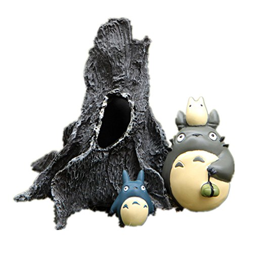 My Neighbor Totoro Family Dead Tree Trunk Diy Gardening Landscaping Resin Decorative Potted Flowers Inserted Micro Landscape Set of 3 Pcs Ornaments