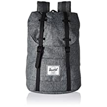 Herschel Supply Co. Retreat Backpack, Raven Crosshatch/Black Rubber