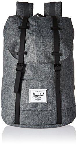Herschel Supply Co. Retreat Backpack, Raven Crosshatch/Black Rubber