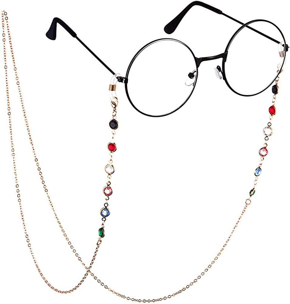 Cadena de Gafas de Gemas de Moda Cordones de Gafas de Lectura Cadena de Gafas de Sol Cadena de Retenci/ón de Gafas 75cm zuoshini Cadenas de Anteojos