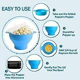 Microwave Popcorn Popper, HIPPIH Silicone Popcorn