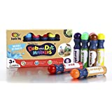 WASHABLE| Dab and Dot Markers | 8 Colors Pack Set | Includes 200+ Fun Downloadable Coloring Sheets | Fun Art Supplies for kids and preschoolers| Preschool Arts and Craft
