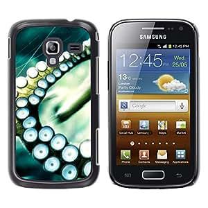 TopCaseStore / la caja del caucho duro de la cubierta de protección de la piel - Octopus Squid Sea Tentacle - Samsung Galaxy Ace 2 I8160 Ace II X S7560M