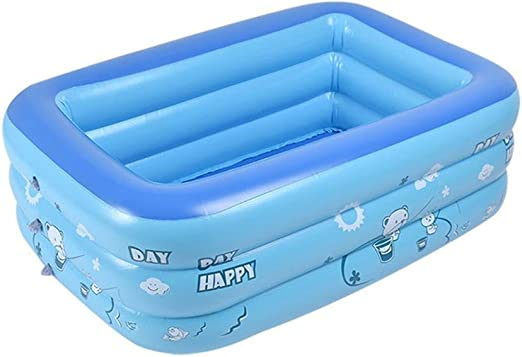 AOLVO Piscina Hinchable Infantil Rectangular Piscina Ducha Plegable 130 X 80 X 40 cm: Amazon.es: Jardín