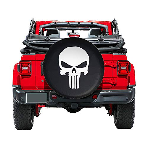 (EIGIIS Universal Soft Spare Tire Cover Leather Waterproof Dust-Proof Thicken Wheel Protectors Covers for Jeep Wrangler Liberty Sahara Hummer Toyota FJ SUV (Shantou, (32