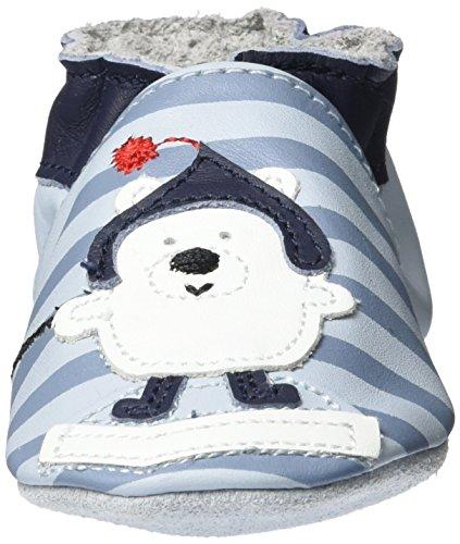 Robeez Fisher Bear - Zapatillas de casa Bebé-Niñas Blau (Bleu Clair)