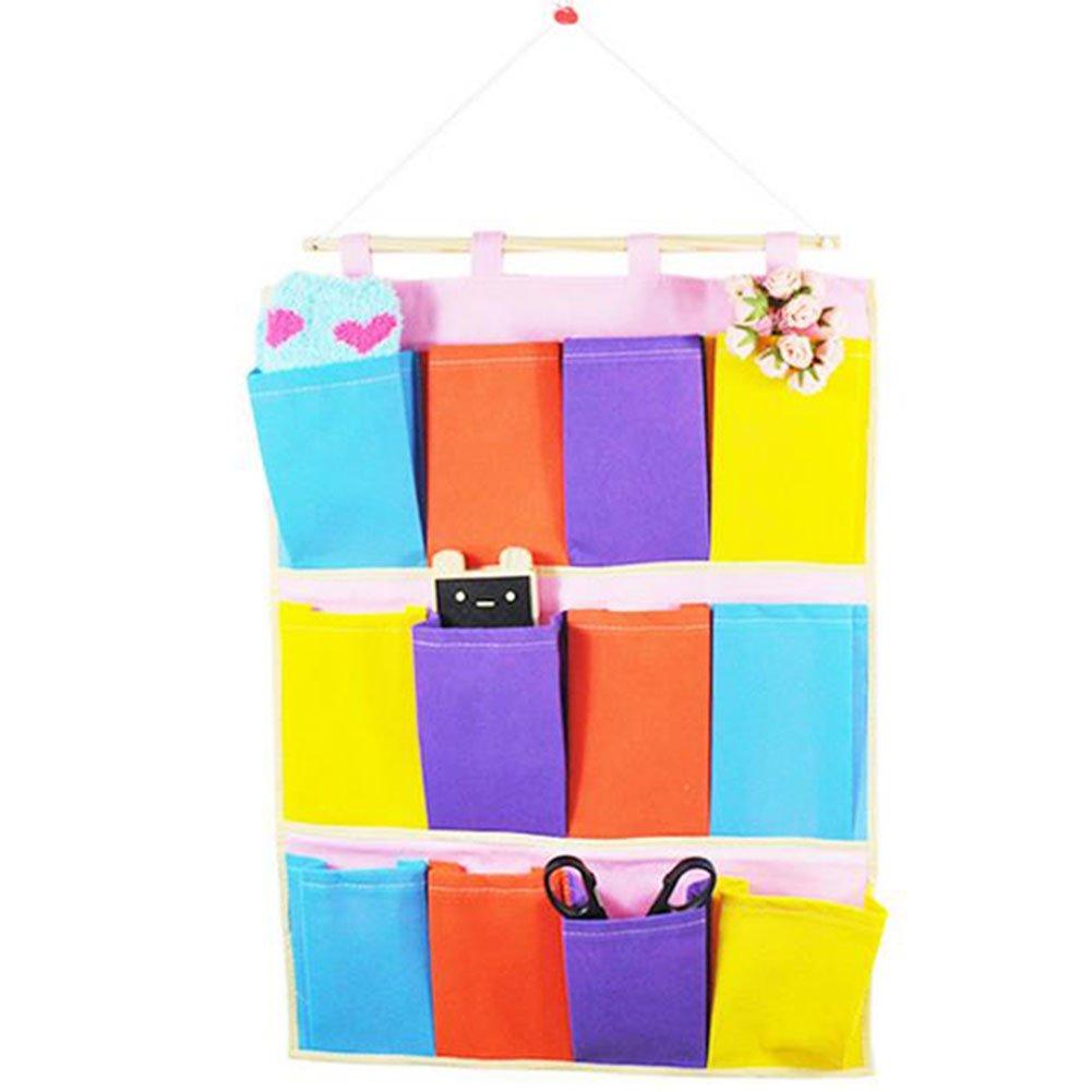 drawihi Scaffale Ciondolo per riordinare armadi con 12scomparti ideale per oggetti da bambino coperte e giocattoli e organizer scarpe Armadietto pensile Scarpiera