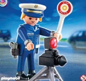 playmobil 4902 policier et radar - Policier Playmobil
