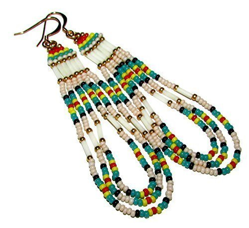 beaded-fringe-loop-earrings-with-bugles-and-glass-seed-beads