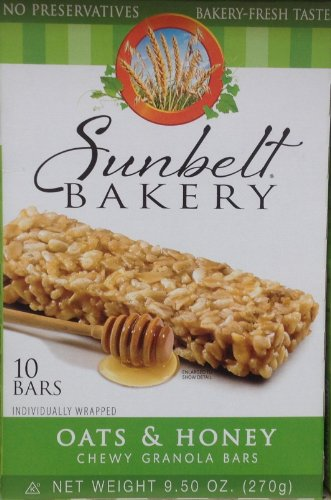 Sunbelt Bakery OATS & HONEY Chewy Granola Bars 50 total bars Packaging May Vary